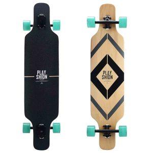 Playshion Freeride Freestyle Drop Through Longboard Skateboard Complete 39 Inch_Best Longboards