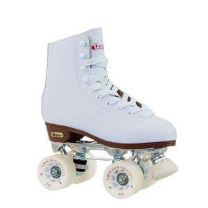 Chicago Women's Leather Lined Rink Roller Skate, White _Best roller skates for kids_skateshouse.com