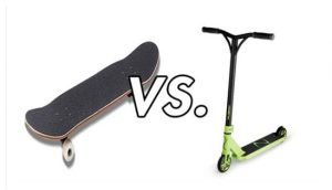 scooter vs skateboard speed_scooter vs skateboard commuting_skateboard vs scooter safety_should.i scooter or bmx_scooter or skateboard for commuting_scooter vs skateboard which is easier_scooter vs skateboard fight_why skaters hate scooters_Skateboarding history_www.skateshouse.com