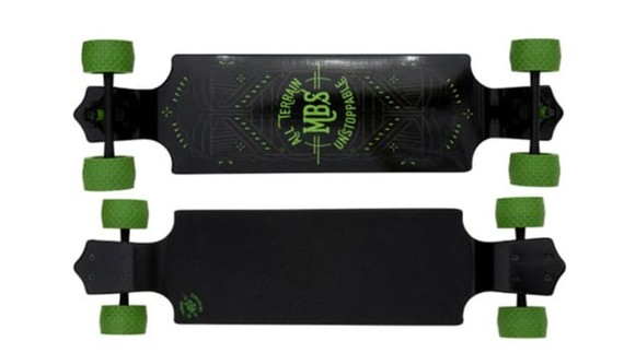 MBS All-Terrain Longboard_Top five best campus longboards_penny board or longboard for college_cruiser board for college_longboarding in college_best skateboard for college campus_penny board for college campus_skateboarding on college campus_longboard vs bike college_best longboard for college_ skateshouse.com
