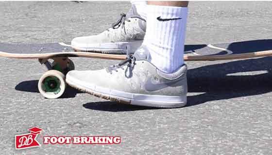 Longboard foot braking