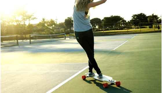 skateboard dancing trick