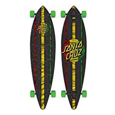 Santa Cruz Mahaka Rasta Pintail Cruzer Freeride Longboard Deck