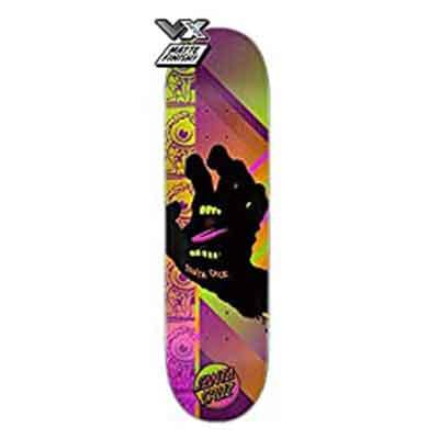 .Santa Cruz Skateboard Deck VX Afterglow Hand 8.0″ Quad X Technology