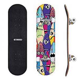ENKEEO 32″ Double Kicktail Skateboard
