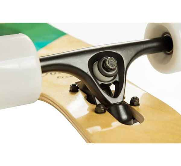 Volador 42inch freeride longboard cruiser is a very good quality longboard for beginners with seven inches reverse kingpin trucks.