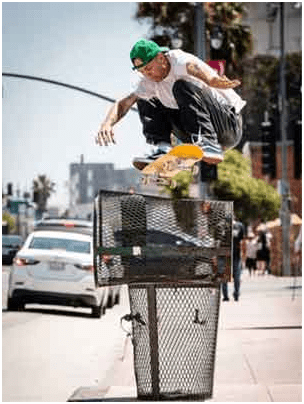 "Andrew Rayneods, owner and co-founder of the skateboarding brand ""Baker"", is one of the best professional skaters in the world."
