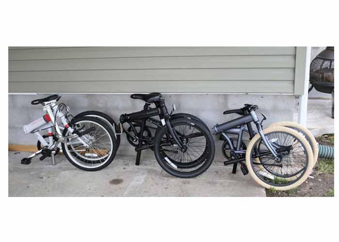 Folding bike frame materials