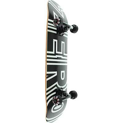 Zero Skateboards Bold Black/White Mini Complete Skateboard
