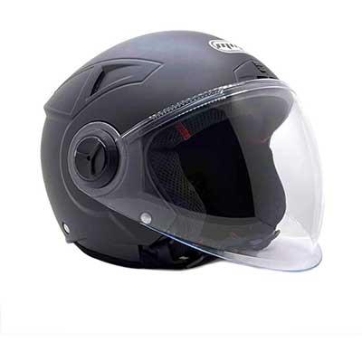 MMG Helmets Open Face Pilot Style Integrated Flip Up Visor DOT - Model 28
